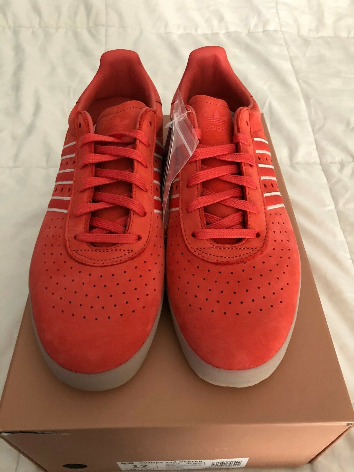DB1975 Adidas Men Oyster Holdings Adidas 350 red trace scarlet Men's Size 12 NEW