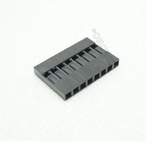 100Pcs Dupont Head 2.54MM 8P 1X8P Dupont Plastic Shell Pin Head ui