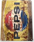 "TIN SIGN ""Pepsi Rusty Retro"" Metal Decor Wall Art Soda Store Shop A564"