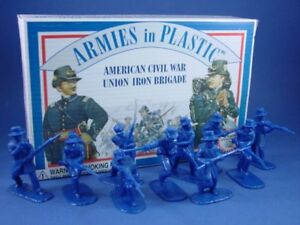 ARMIES-IN-PLASTIC-Civil-War-Toy-Soldiers-Union-Iron-Brigade-20-BOXED-FREE-SHIP