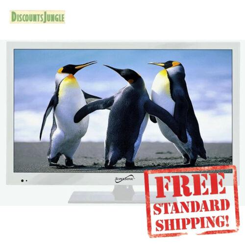 "Supersonic SC-1511 White 15.6/"" 1080p LED Widescreen HDTV w// HDMI /& USB Input TV"