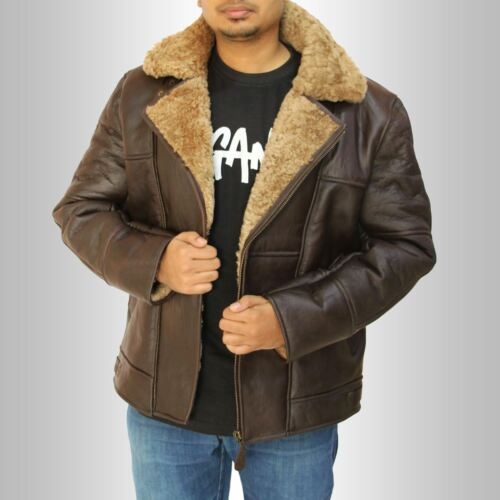 Ginger Flying Shearling Leather Flight B3 Winter Mens Jacket Real Sheepskin qwOSnatB8
