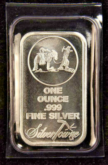 .999 Fine Lot of 2-1 Troy ounce APMEX Silver Bars