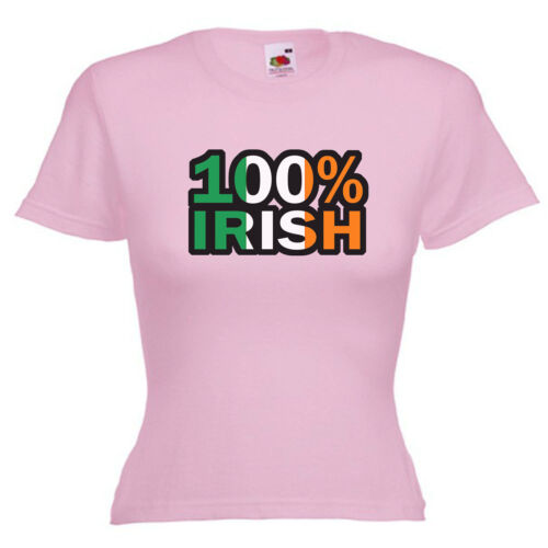 100/% Irish Ireland Ladies Lady Fit T Shirt Size 6-16