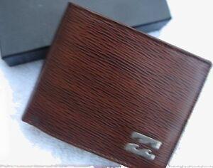 New-BILLABONG-Wallet-Real-Leather-Brown-Card-Holder-Bifold-Mens-Boys-NIB-69