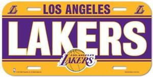 Los-Angeles-Lakers-License-Plate-Lightweight-Plastic-NBA-Licensed-New-LA-Lakers
