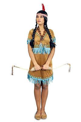 Kostüm Indianerin Indianer Indianerkostüm Damen braun//türkis Fasching Karneval