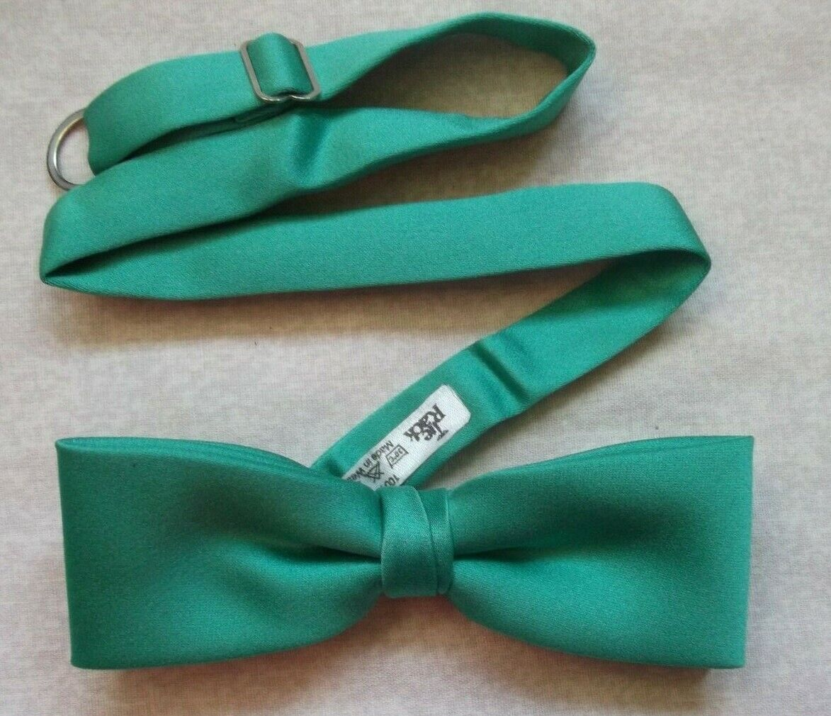 Vintage Bow Tie MENS Retro Dickie Bowtie Adjustable Jade Green by TIE RACK