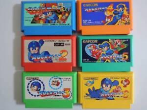 Details about Family Computer Rockman 1 2 3 4 5 6 ROMS SET Japan Used  MEGAMAN Famicom NES