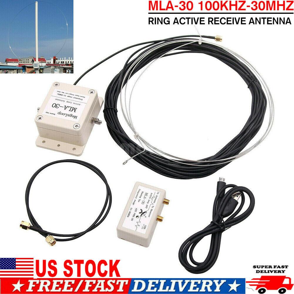 MLA-30 Loop Antenna Active Receive Antenna 100kHz-30MHz AMP