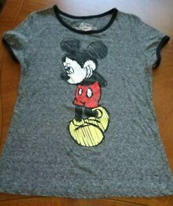 Disney-Mickey-Mouse-chicos-Shirt-Gris-Camisa-De-La-Juventud