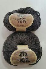 "2 FROG TREE ""MERIBOO"" DK YARN 70% Merino Wool/30% Bamboo, Gray Same Lot 50g/105y"