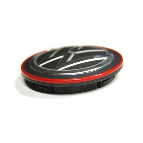 Moyeux capsule d/'origine vw cache couvercle roues Alufelge Capuchon Chrome//rouge