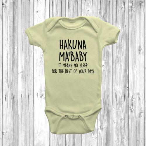 Hakuna Ma/'Baby Baby Grow Vest Body Suit Funny Humour Disney Inspired
