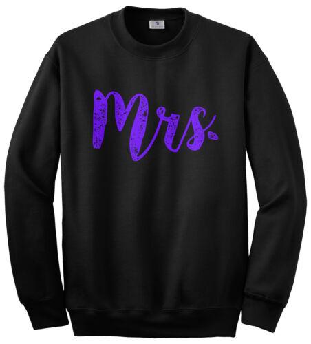 Mrs Unisex Sweatshirt Bride Wedding Day Bridal Shower Gift