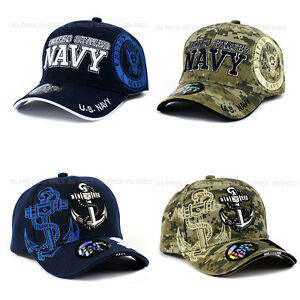 8e46416a2d8 Image is loading U-S-NAVY-hat-Military-NAVY-Official-Licensed-Baseball-