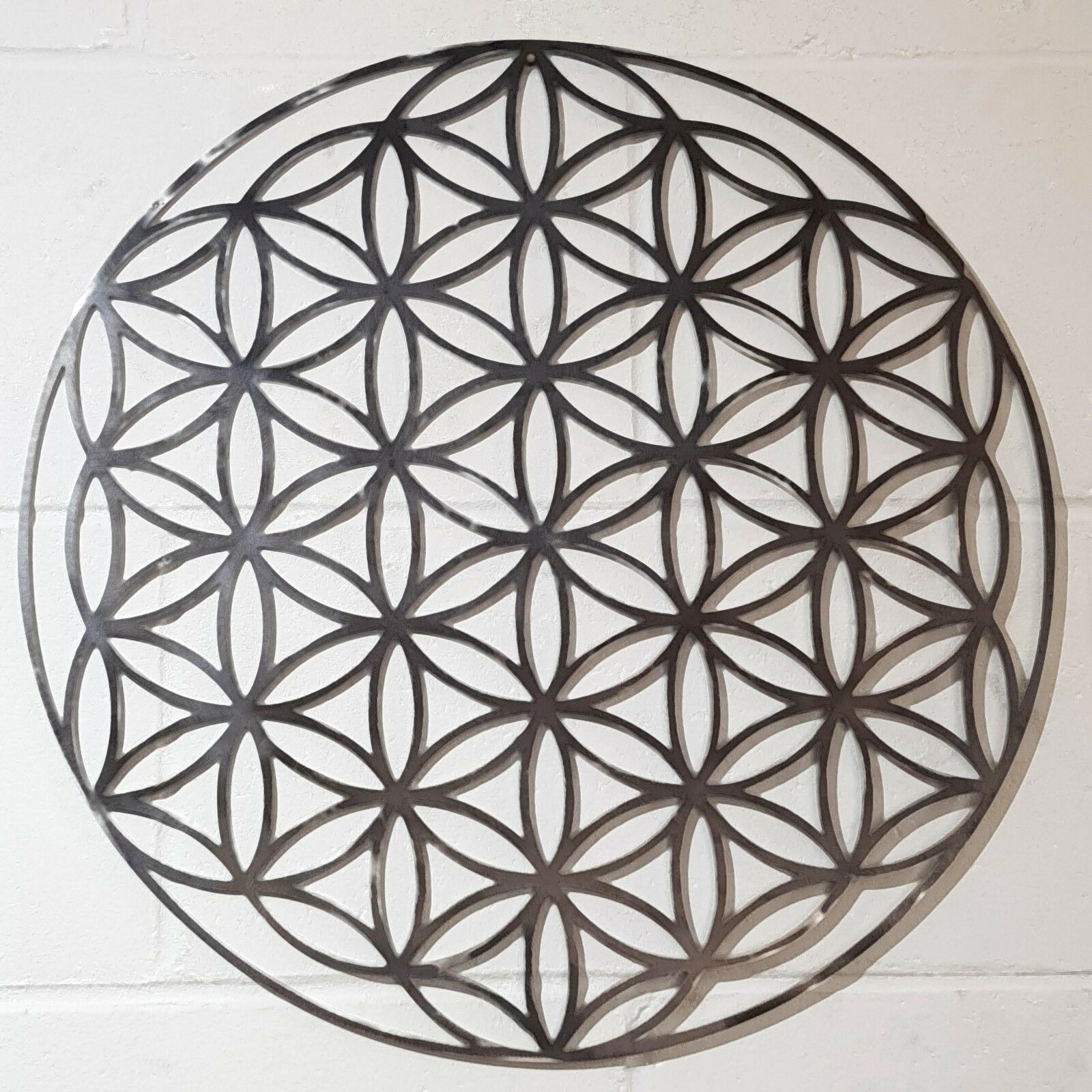 Solid Steel Metal Hand finished Geometric Work, Flower Wall Art Work, Geometric poison. 987537
