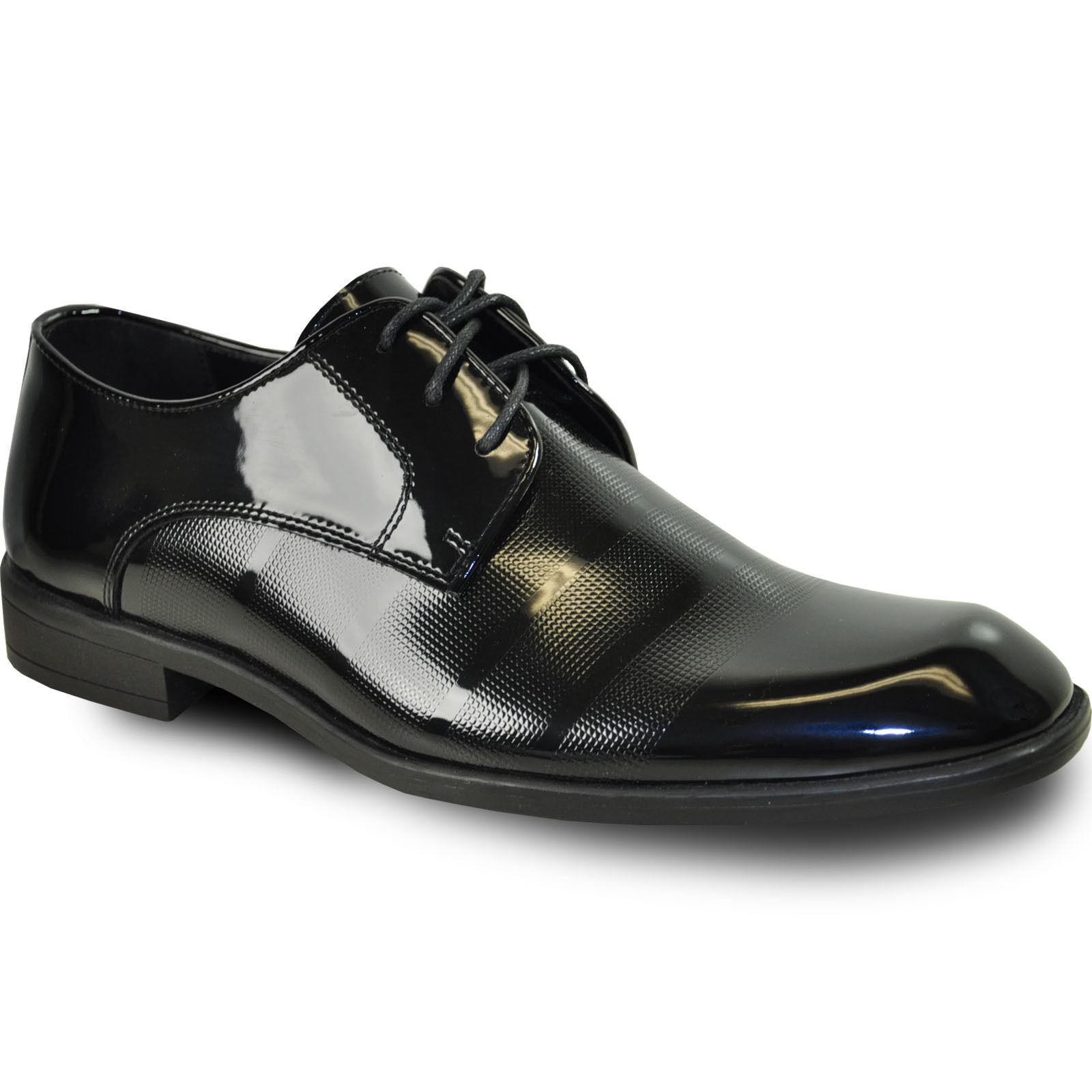 VANGELO Nouveau Hommes Tuxedo Chaussures Rockefeller for Formal mariage Noir Taille Jusqu'à 18