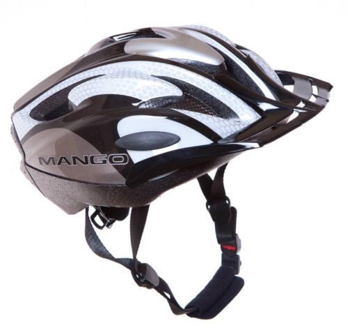 MANGO LARGE XL ADULTS 57//61CM Bike Bicycle HELMET WHITE//SILVER High Quality