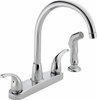 Peerless P299578lf Choice Two Handle Kitchen Faucet, Chrome , New, Free Shipping on sale