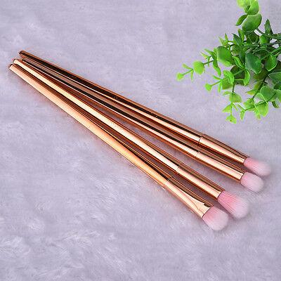 4pcs Makeup Cosmetic Tool Eyeshadow Powder Foundation Blending Brush Set Gold