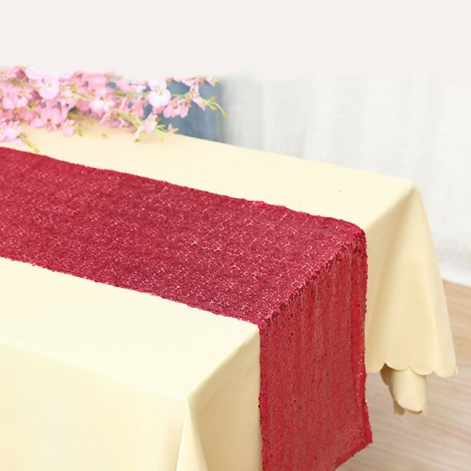 Hot rose glitter sequin table runners wedding birthday party cake table decor