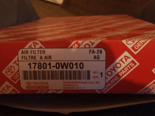 Toyota Genuine Part 17801-0W010 Air Filter OEM