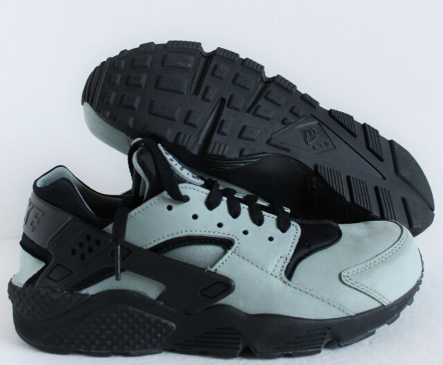 b73b4ba2fd17 Nike Air Huarache Run Premium Men Lifestyle Casual SNEAKERS Green ...