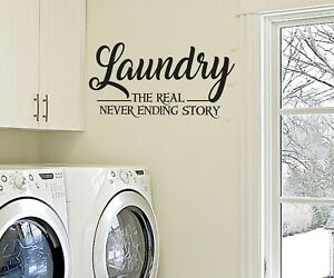 Laundry Room Wall Sticker Never Ending Story Vinyl Decal Transfer Quote Ebay