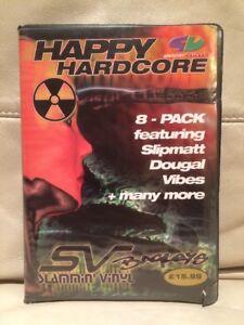 Slammin-039-Vinyl-Happy-Hardcore-Bagleys-1997-Rave-Tape-8-Pack-RARE-Old-Skool
