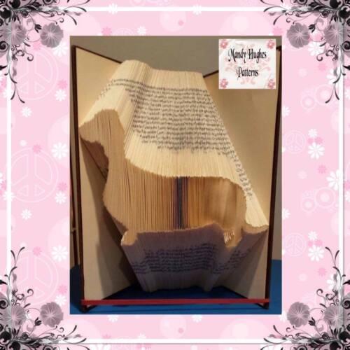 Sausage Dog Dachshund Folded Book Art Folding PATTERN ONLY #1043