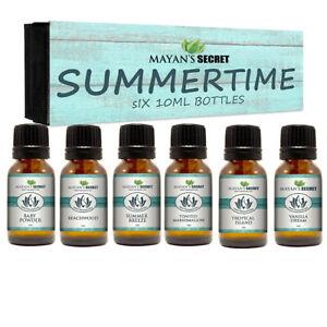 Premium-Grade-Fragrance-Oil-Summer-Time-Gift-Set-6-10ml-for-Diffuser-Body-oil