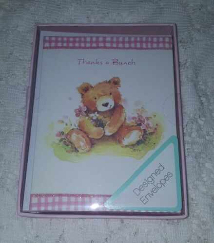 showers Teddy Bear Thank You Cards From American Greetings Wedding Pink 10 ct