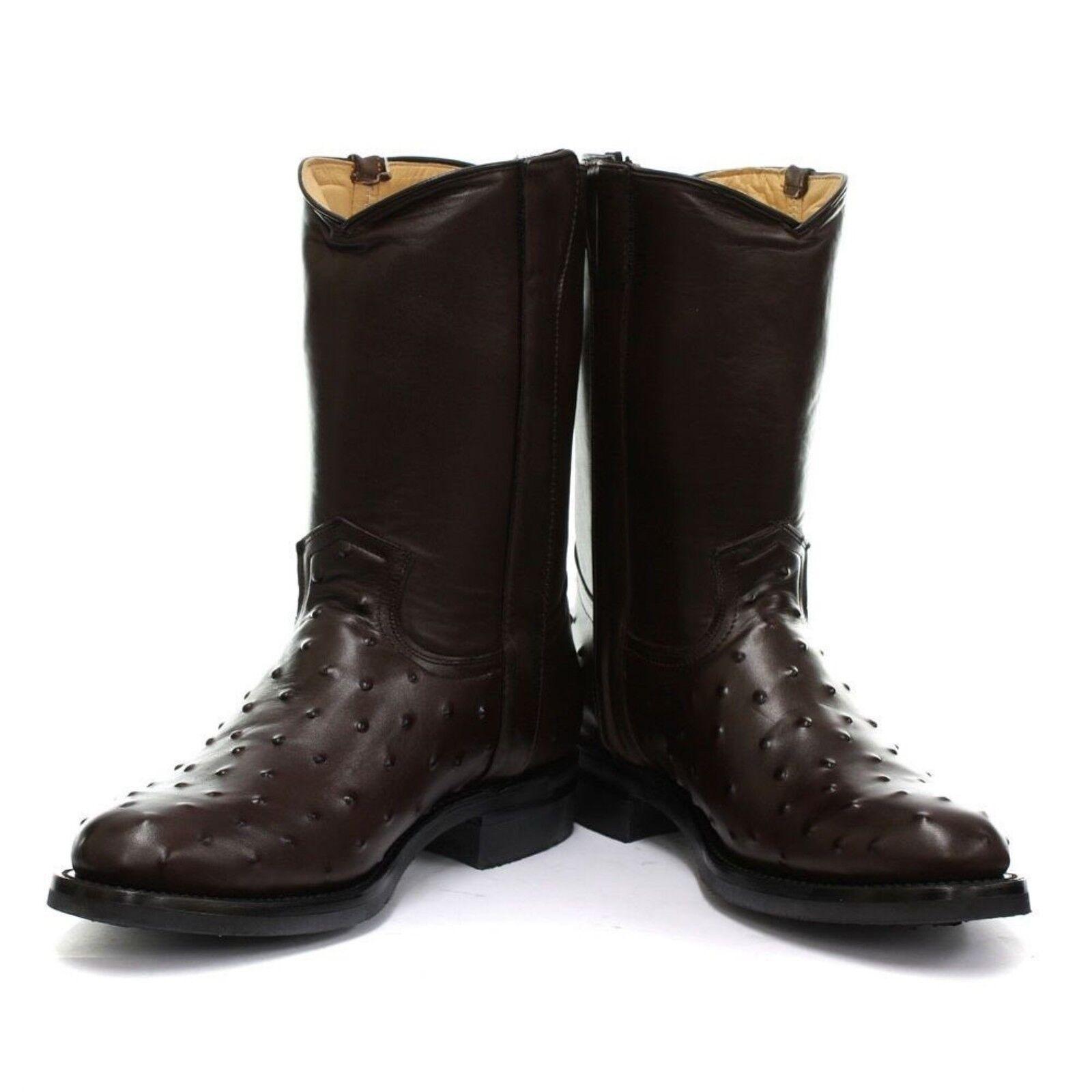 Grinders nuova Western linea uomo VEGAS Boot Marrone Biker Cowboy Western nuova Stivali in Pelle 9f5998