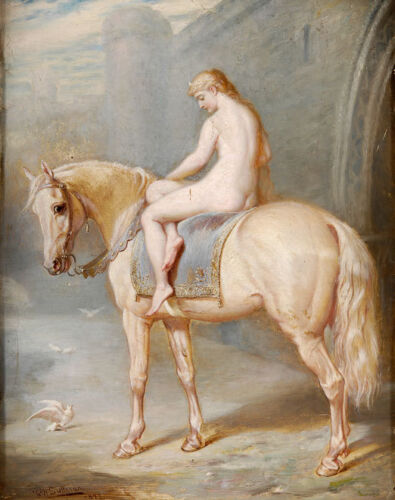 Lady Godiva Naked Coventry Horse 1877 Holmes Sullivan 6x5 Inch Print
