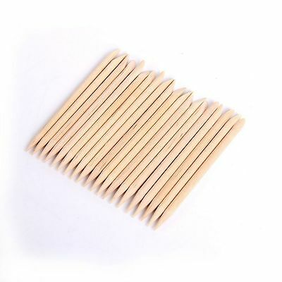 100Nail  ArtOrange Wood Cuticle Sticks Hoof Pusher Tool Manicure Pedicure