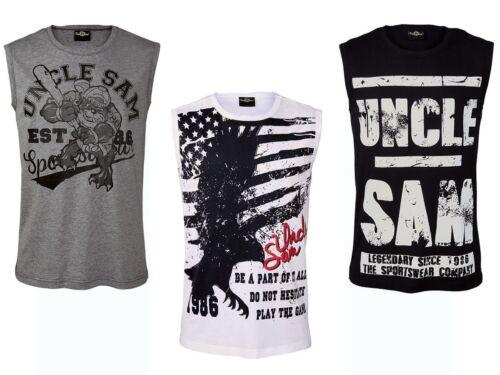 Uncle Sam Maglietta muscolare Fitness Camicia Sport Maglietta T-shirt Sport Camicia Tank Top (z16)