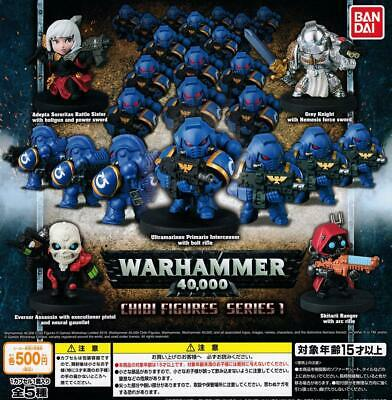 BANDAI WARHAMMER 40K Chibi Figures Series 1 Gashapon 5 set mini figure capsule