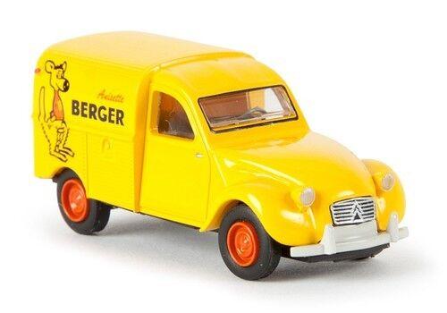 """Echele 1//87 Citroen 2cv fourgonnette 1961 /""""Anisette Berger/"""" Ho Brekina"""