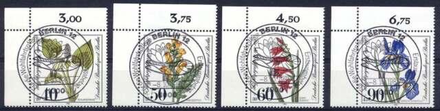 Berlin Nr. 650-653 gestempelt, LUXUS Eckrand, Ecke 1 (42357)