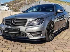 Diffusor Frontlippe für Mercedes W204 C Klasse AMG Paket Frontspoiler Lippe Matt