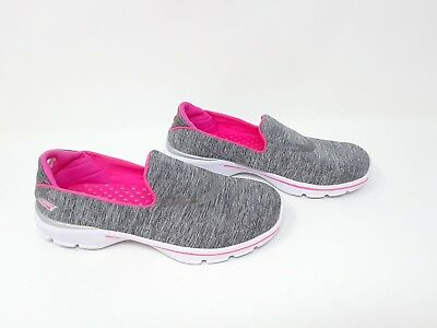 Skechers 81076L GoWalk 3 Reboot Slip-Ons Gray//Pink G67 Girls Toddler New