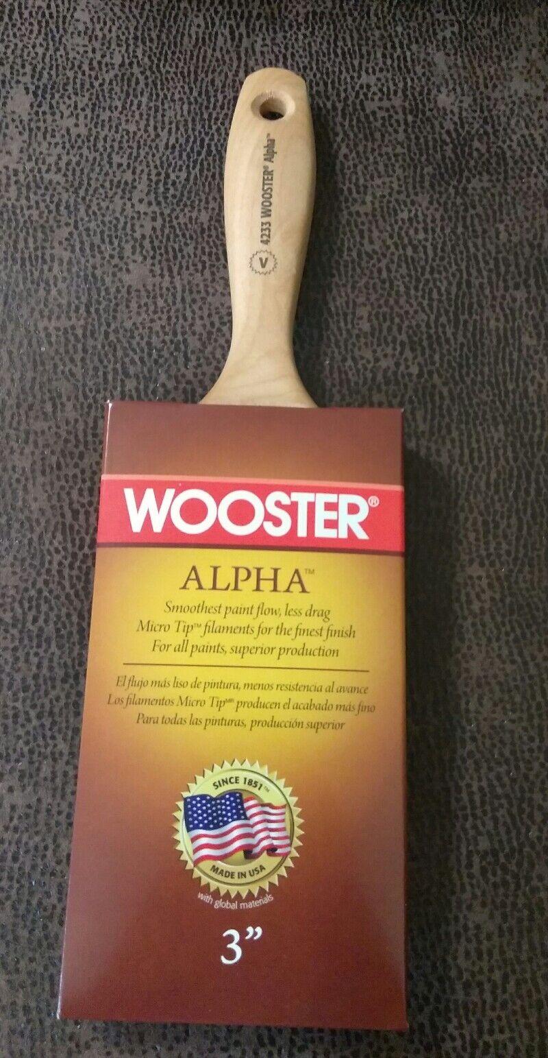 Lot of 3 Wooster 3  Alpha Varnish Paint Brush 4233