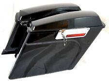 "Mutazu Stretched Extended Hard Saddlebags 4"" Fit Harley Davidson HD Touring"