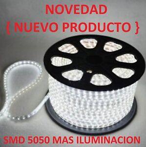 BOMBILLA-TIRA-DE-LED-LUZ-FRIA-BLANCA-220V-SMD5050-IMPERMEABLE-IP65-13MM-230V