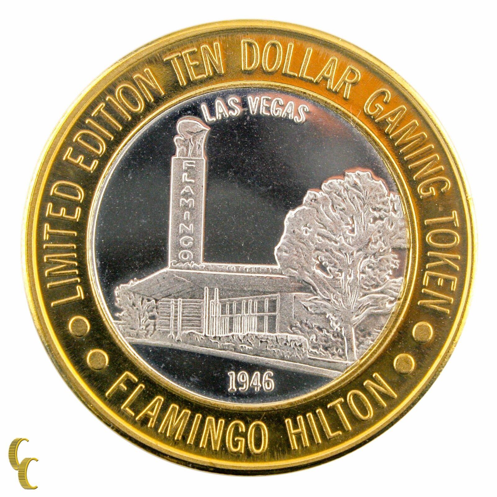 Flamant Rose Hilton 1946 Casino Gaming Token .999 Argent Édition Limitée