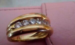 Bague alliance  diamants or 18 carats