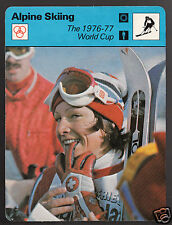 LISE-MARIE MOREROD 1976-77 Alpine Skiing World Cup 1979 SPORTSCASTER CARD 71-24A