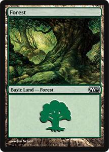 mtg-Magic-the-Gathering-24-FOREST-basic-land-lot-card-green-mana-mixed