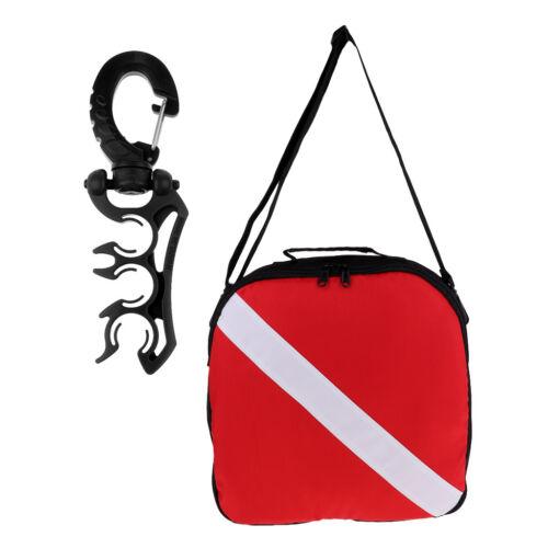 Scuba Diving Dive Flag Regulator Gear Shoulder Bag with Hose Holder Retainer